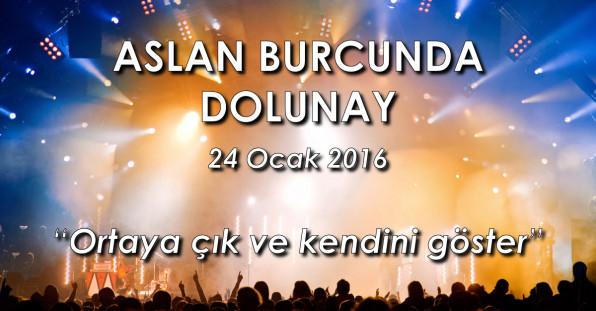 Aslan Burcunda Dolunay – 24 Ocak 2016