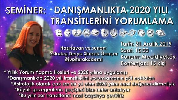 Seminer: Danışmanlıkta 2020 Yılı Transitlerini Yorumlama