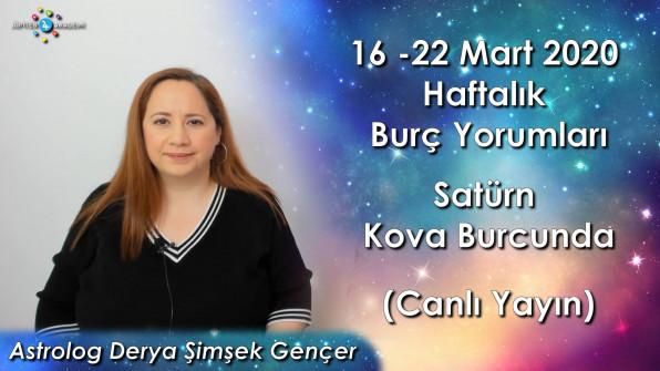 16 – 22 Mart 2020 Haftalık ve Günlük Burç Yorumları, Satürn Kova Burcunda