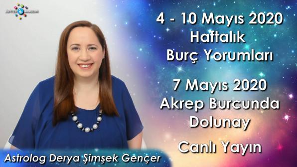 4 – 10 Mayıs 2020 Haftalık Burç Yorumları, 7 Mayıs 2020 Akrep Burcunda Dolunay